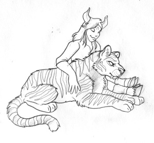 Vassanta and Dog