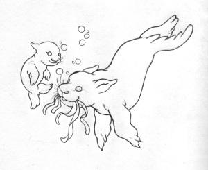 Momma Tathariel Seal & Baby Relanos Seal