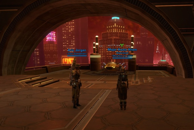 The view of Nar Shaddaa.